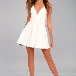 Lulu's White Skater Dress